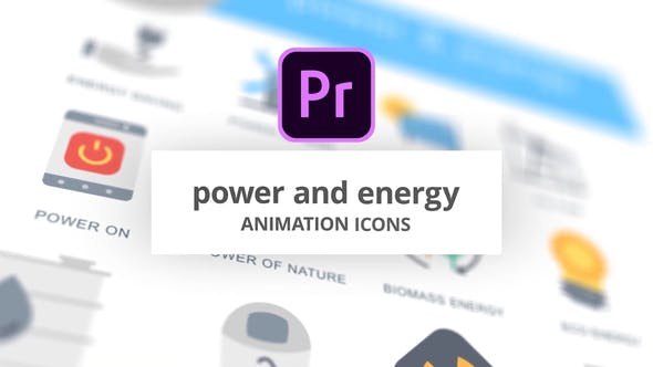Thumbnail for Power and Energy - Animation Icons (MOGRT)