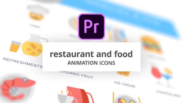 Thumbnail for Restaurant and Food - Animation Icons (MOGRT)