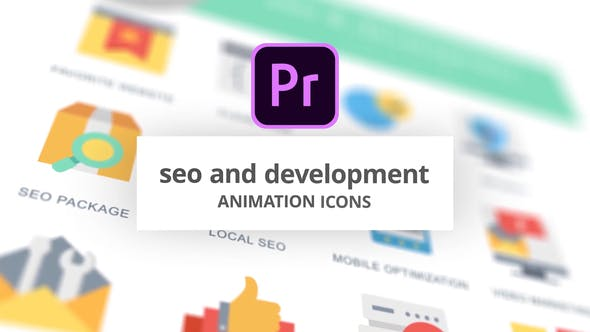 Thumbnail for SEO and Development - Animation Icons (MOGRT)