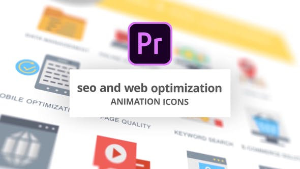 Thumbnail for SEO and Web Optimization - Animation Icons (MOGRT)