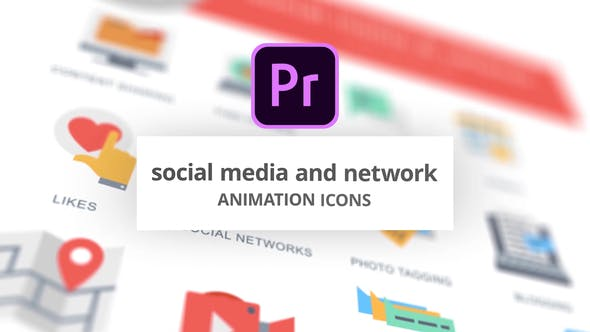 Thumbnail for Social Media and Network - Animation Icons (MOGRT)