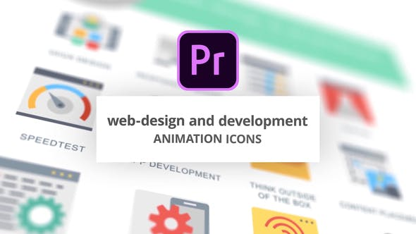 Thumbnail for WEB and Graphic Design - Animation Icons (MOGRT)