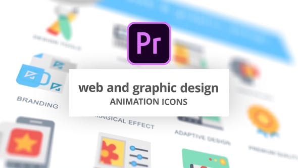 Thumbnail for Web-Design and Development - Animation Icons (MOGRT)