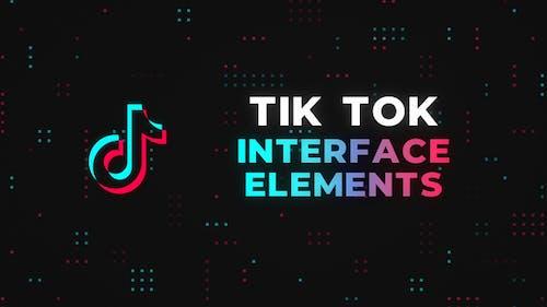 Tik Tok Interface Elements