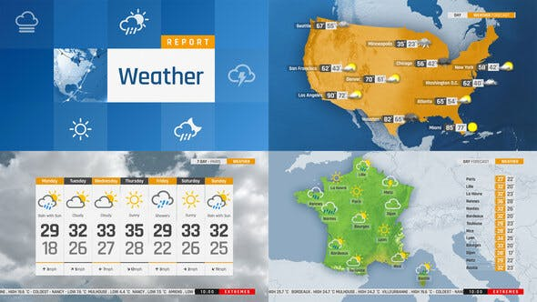 The Complete World Weather Forecast Toolkit By Framestore On Envato Elements
