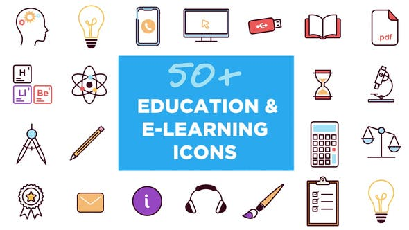 Thumbnail for 50+ Animated Icons for Education and E-learning