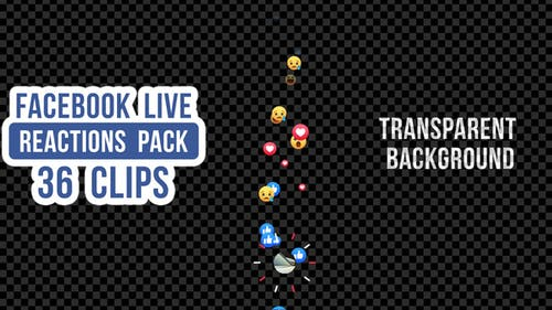 Facebook Live Reactions Pack - 36 Clips
