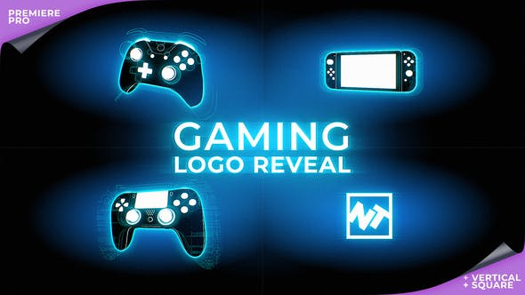 Thumbnail for Gaming Logo Reveal for Premiere