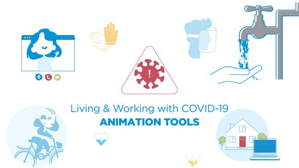 Living & Working with COVID-19 - Animated graphics