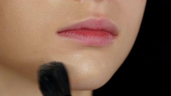 Thumbnail for Foundation. Make Up. Black. Closeup