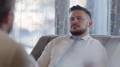 Men Having Conversation