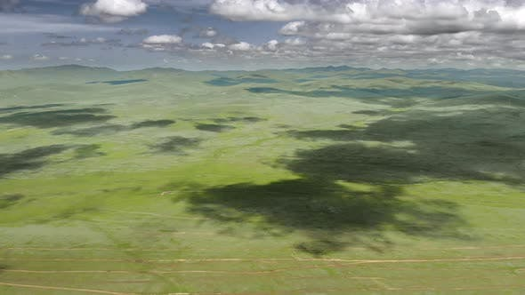 Vast Empty Meadow of Central Asian Tableland