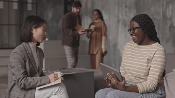Female Colleagues Having Conversation