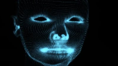 Hologram human face background
