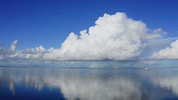Thumbnail for Blue sky and sea with rainbow in ishigaki island