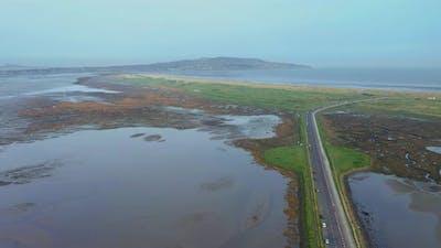 Irish aerial seascape