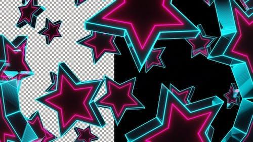 Flying Neon Stars Pro Res Alpha 4K