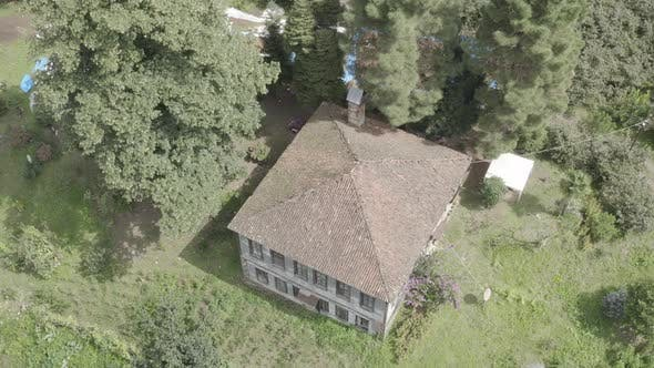 Thumbnail for Trabzon City Old House Forest And Mountains Aerial View 2
