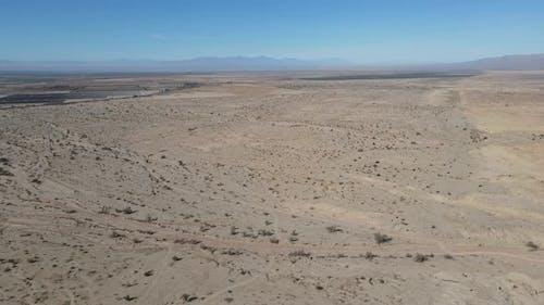 Aerial View of Desert South California