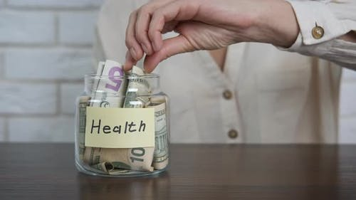 Kosten für Gesundheit.