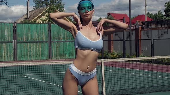 Thumbnail for Sexy Tennis Player on Court