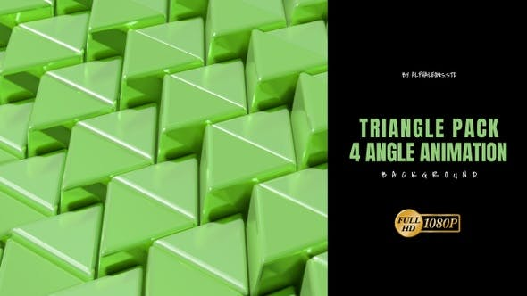 Triangle 3D Green Color