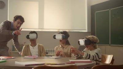 Students Using Vr Glasses
