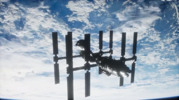 Thumbnail for International Space Station in Outer Space Over the Planet Earth