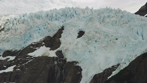 Time Lapse of the Mountains of El Chalten in Argentina During Snow