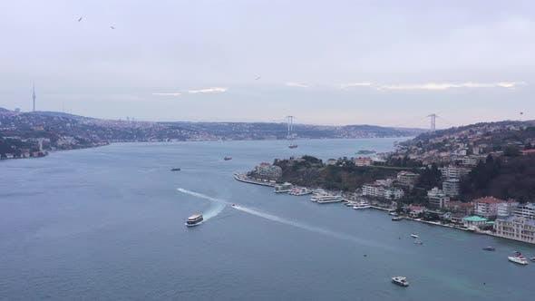 Thumbnail for Istanbul Bebek Bosphorus Aerial View 6
