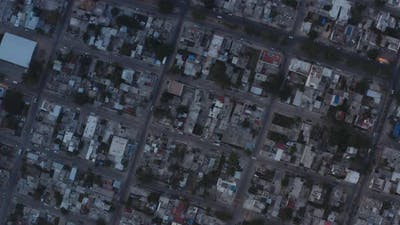Aerial Spinning Shot Above Playa Del Carmen Mexico