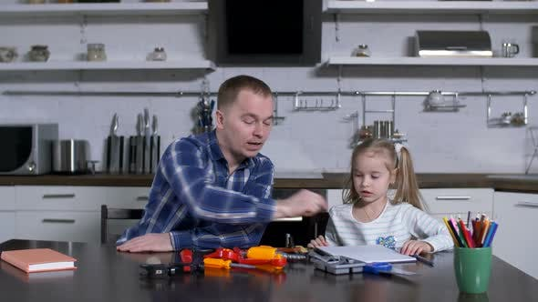 Thumbnail for Dad Asking Little Girl To Choose Screwdriver Tool