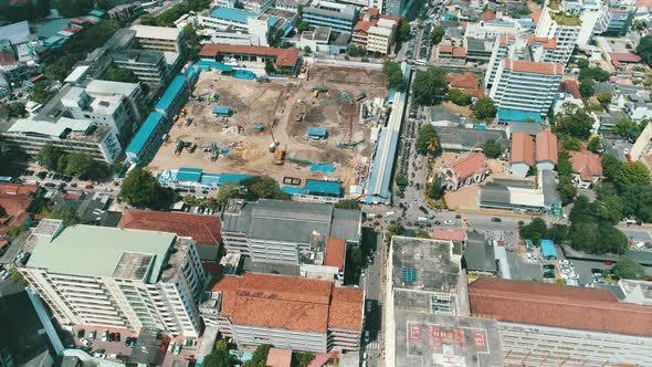 Thumbnail for Aerial Of A Building Foundation Construction Site