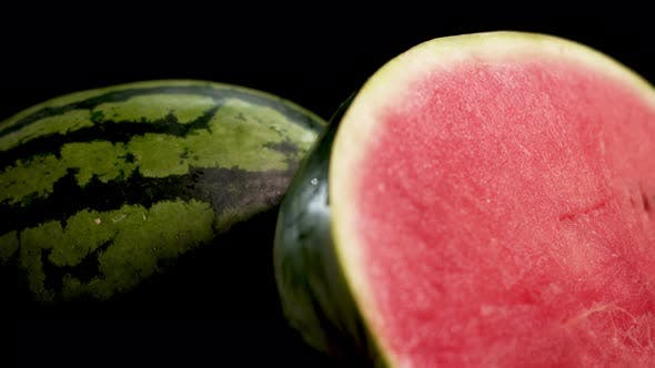 Thumbnail for Wet Half-Sliced Watermelon