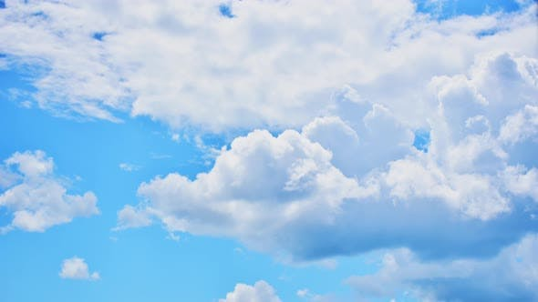 Blue Sky And Clouds Static Background