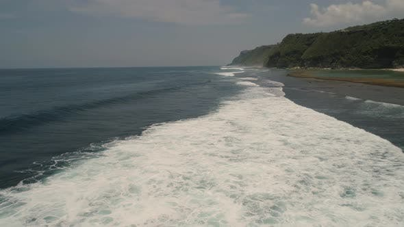 Thumbnail for Water Surface with Big Waves, Aerial view, Bali