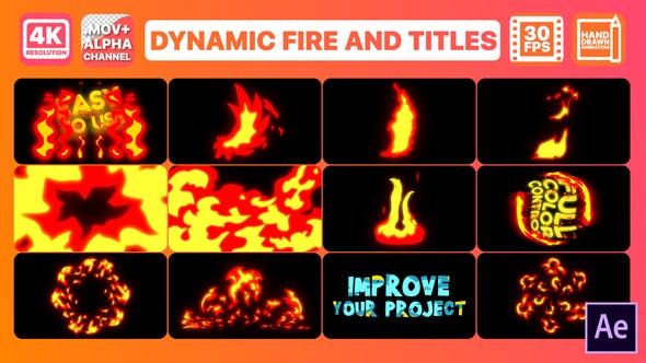 Thumbnail for Dynamic Fire And Titles | After Effects