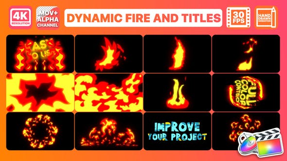 Thumbnail for Dynamic Fire And Titles | FCPX