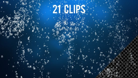 Underwater Air Bubbles Pack - 21 Clips