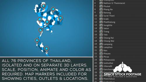 Thailand Map Kit