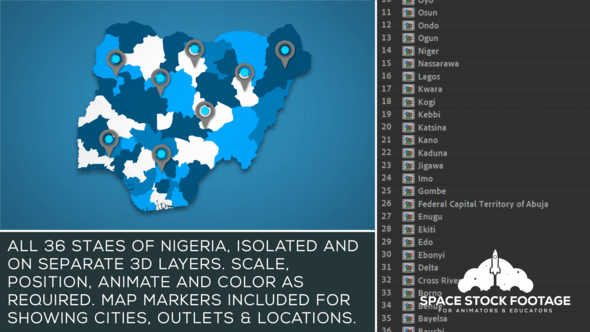 Thumbnail for Nigeria Map Kit