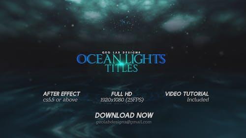 Ocean Lights Titles  l  Sea Lights Slideshow  l  Ocean Waves Opener