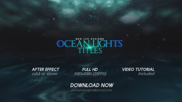 Thumbnail for Ocean Lights Titles  l  Sea Lights Slideshow  l  Ocean Waves Opener