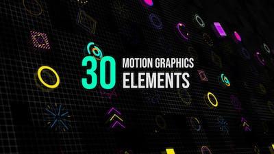 30 Motion Graphic Elements