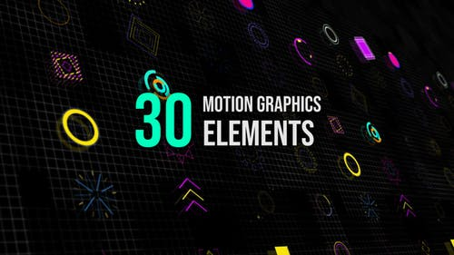 30 Motion Graphic Elemente
