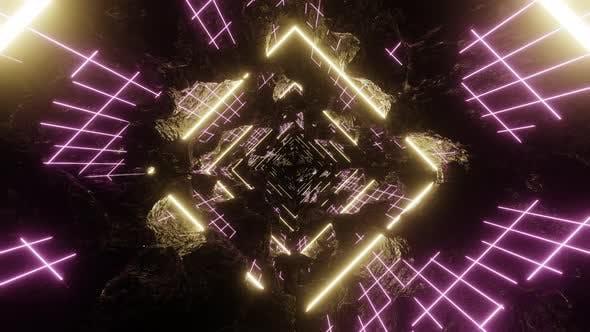 Thumbnail for 80's Abstract Grid Light Retro 02 4K