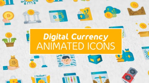 Digital Currency Modern Flat Animated Icons