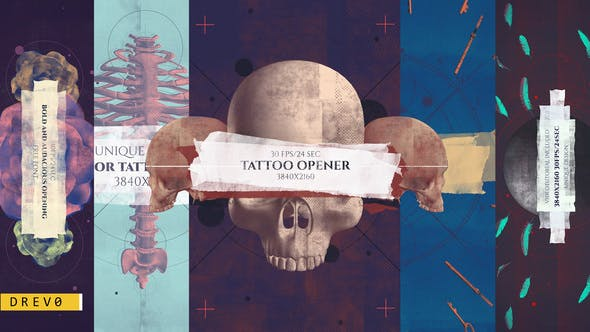 Thumbnail for Tattoo Studio Opener/ Rock Pub/ Gothic Promo/ Biker Сlub/ Grunge/ Scull and Bones/ Roses/ Brush/ Ink