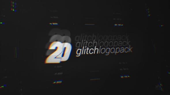 Thumbnail for 20 Glitch Logo Intro Reveal Pack