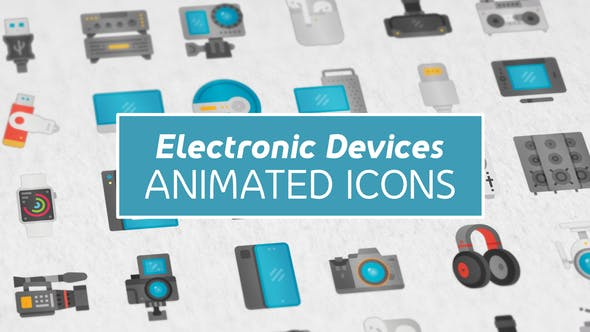 Electronic Devices Modern Flat Animated Icons
